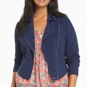 Torrid Women's Textured Scuba Moto Jacket, Size 2X